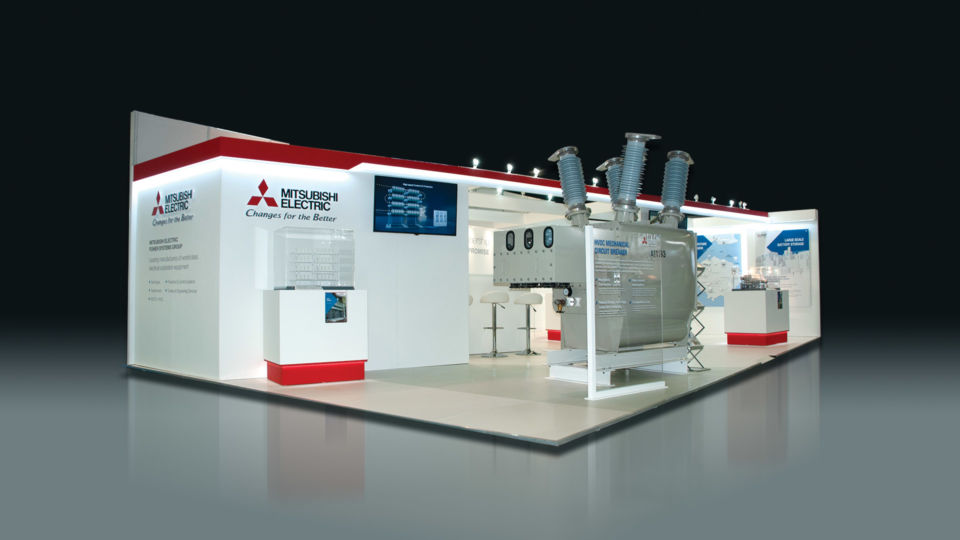 trade exhibition stand design mitsubishi electric power systems oyster studios 15