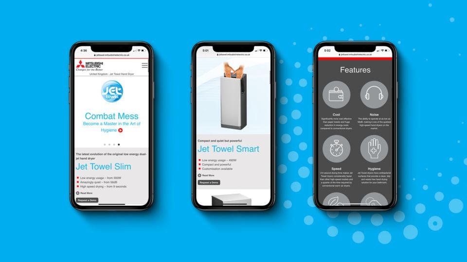 mitsubishi jet towel website design responsive oyster studios 2