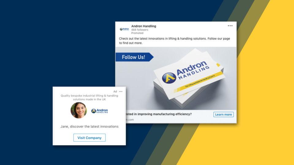 andron handling digital marketing linkedin campaign oyster studios 5